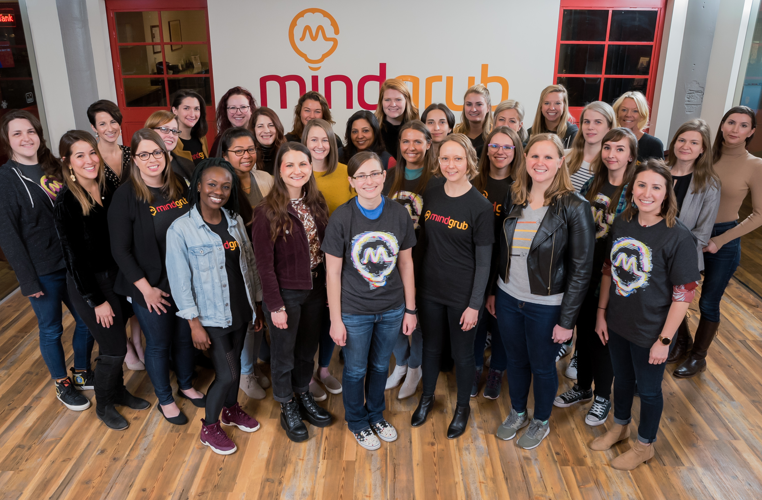 Mindgrub's women employees together in a group