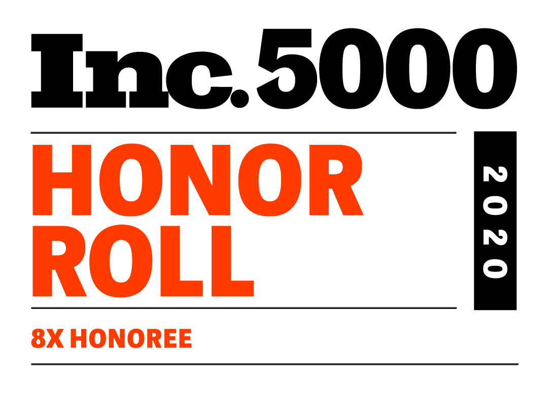 Inc. 5000 Honor Roll 2020 - 8x Nominee