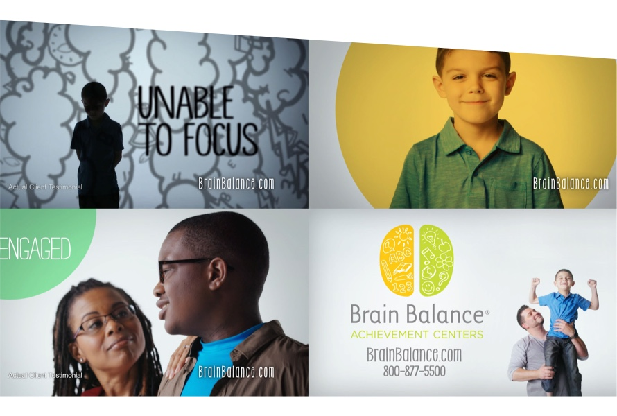 Images taken from Brain Balance campaign