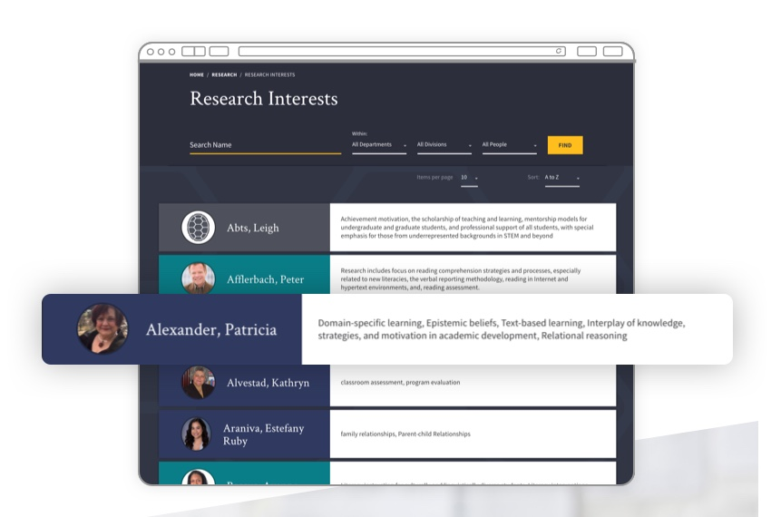Research interests page.