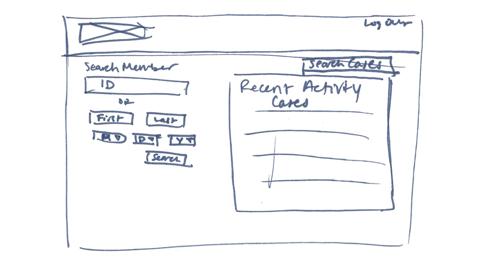A sketch of what the search page would look like