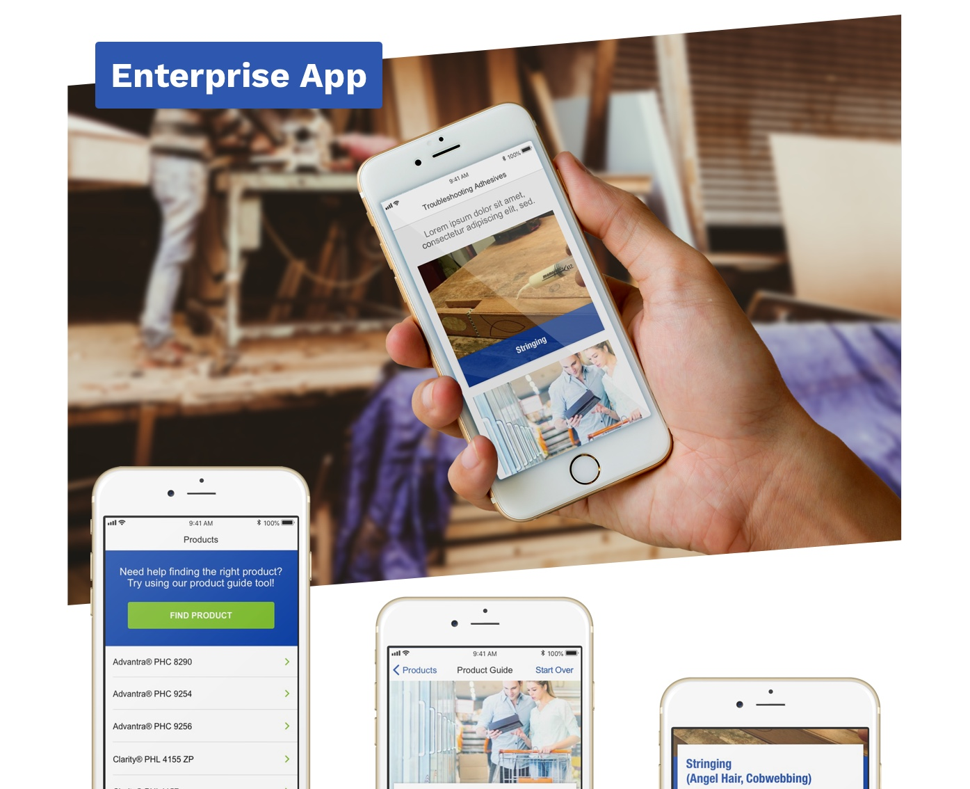 H.B. Fuller enterprise app in use.