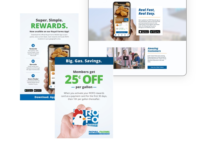 Royal Farms rewards website