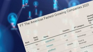 Financial Times List of Fast-Growing Companies 2021