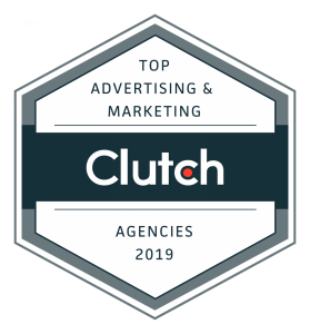 Clutch.co 2019 Top Advertising and Marketing Agencies Badge