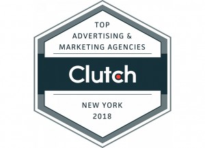 Logo for Clutch New York 2018 Top Advertising and Marketing Agencies